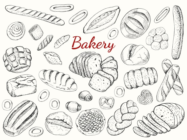 Grote collectoin van bakery