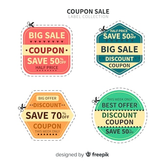 Grote coupon verkooplabel collectie