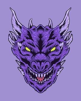 Grote dragon-illustratie