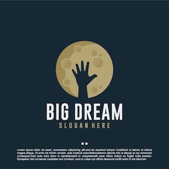 Grote droom, motivatie, inspiratie voor logo-ontwerp