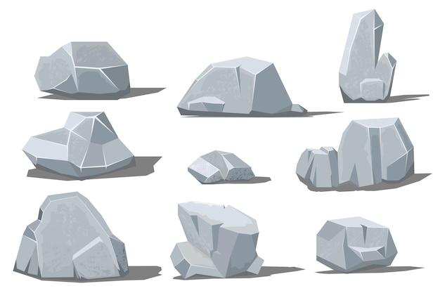 Grote en kleine rots met schaduw