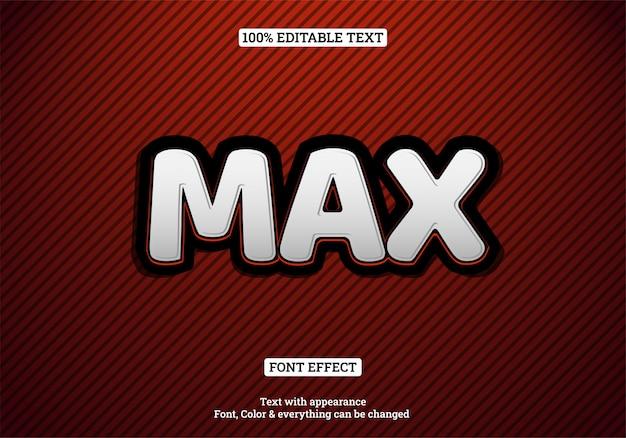 Grote en vetgedrukte teksteffect typografie