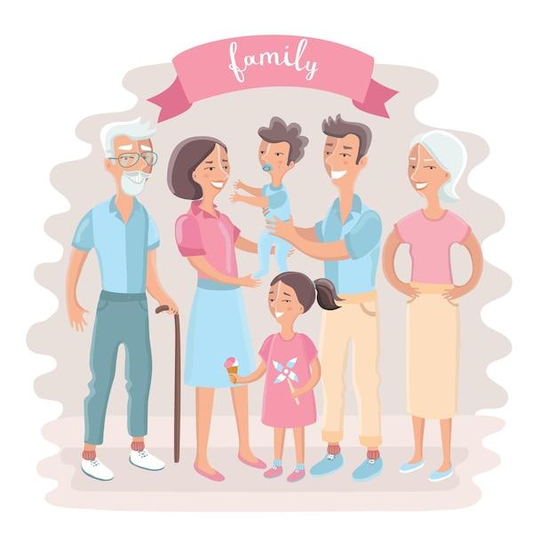 Grote familie samen
