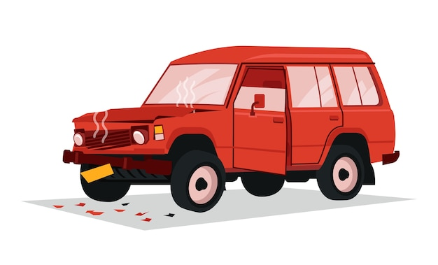 Grote familie vrachtwagen vergaan na een ongeval