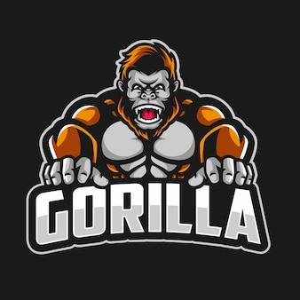 Grote gorilla mascotte