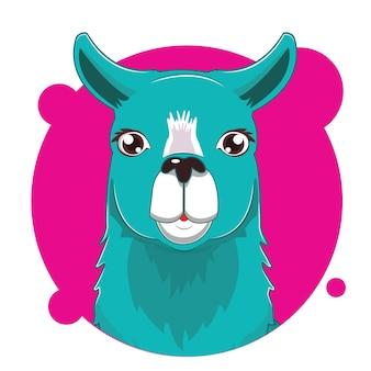 Grote hoofd-lama-avatar
