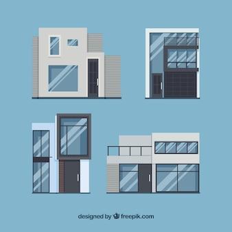Grote huizen met moderne ontwerpen
