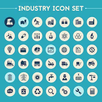Grote industrie icon set