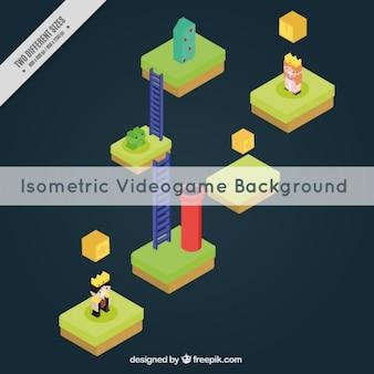 Grote isometrische video spel achtergrond