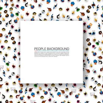 Grote mensen menigte op witte achtergrond. vector illustratie.