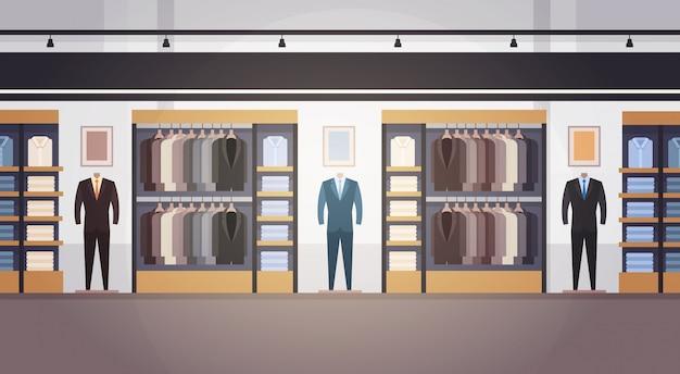 Grote mode winkel super markt mannelijke kleding winkelcentrum binnenlandse banner met kopie ruimte