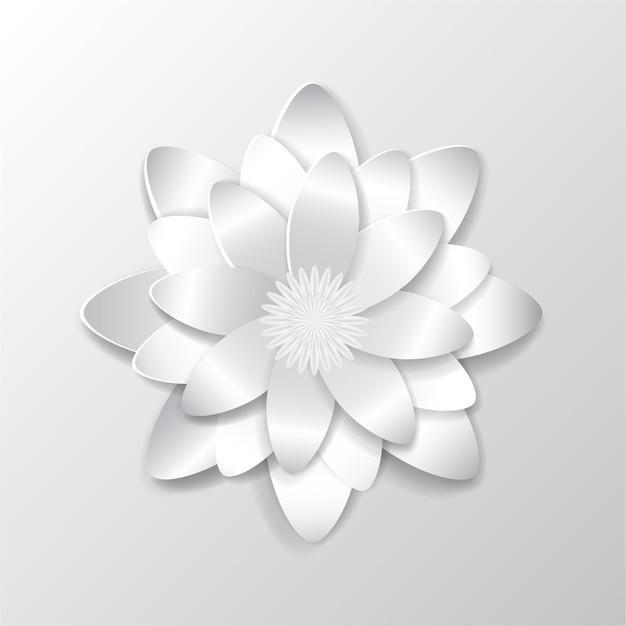 Grote mooie papieren bloem met zachte schaduw