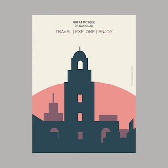 Grote moskee van Kairouan, Tunesië Poster