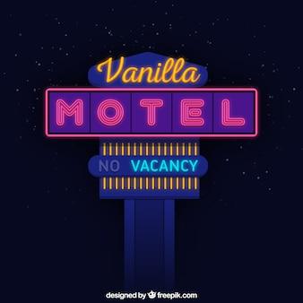 Grote neon teken voor een motel