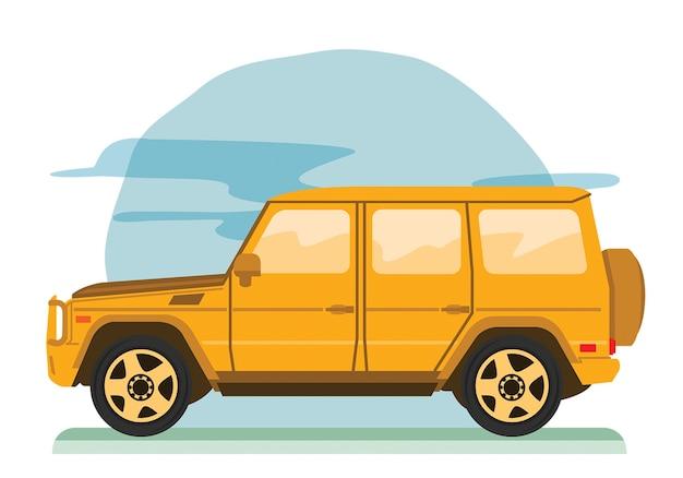 Grote off-road gezinsauto