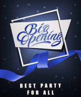 Grote opening, beste feest voor alle feestelijke posters
