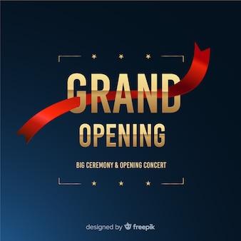 Grote opening binnenkort, aankondigingsontwerp
