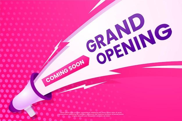 Grote opening binnenkort promo