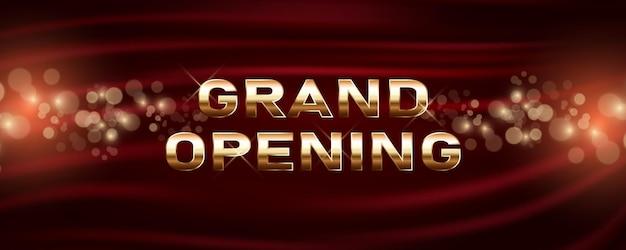 Grote openingsbanner. sjabloon feestelijk ontwerpelement voor openingsceremonie