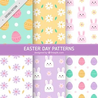 Grote pak van decoratieve patronen voor pasen dag