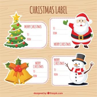 Grote pak van decoratieve stickers met kerstartikelen