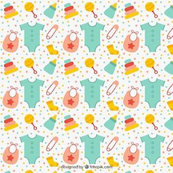 Grote patroon met baby-artikelen