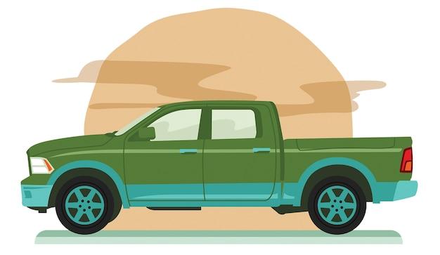 Grote pick-up met vierwielaandrijving