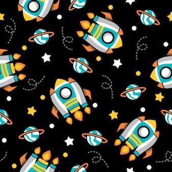 Grote raket patroon illustratie ontwerp