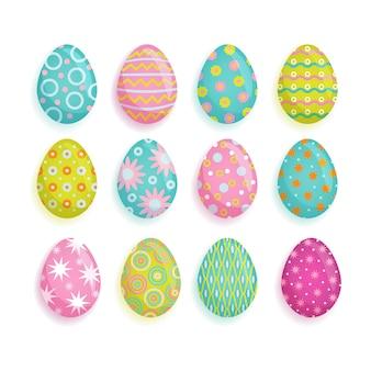 Grote reeks gekleurde eieren, pasen-decoratieelement