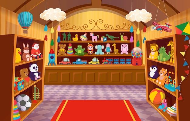 Grote reeks kleurrijk speelgoed voor kinderen