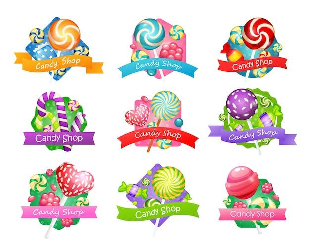 Grote reeks snoepwinkelitems, vectorillustratie