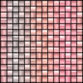 Grote reeks van 196 gradiëntachtergronden in roze goud en zwart