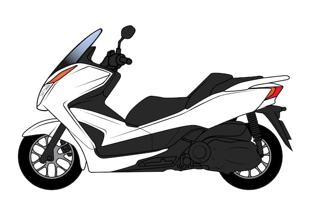 Grote scooter cartoon
