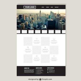 Grote stad elegante website template