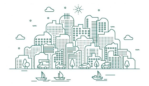 Grote stadsillustratie