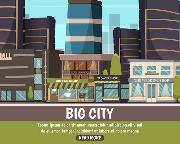 Grote stadslandschap
