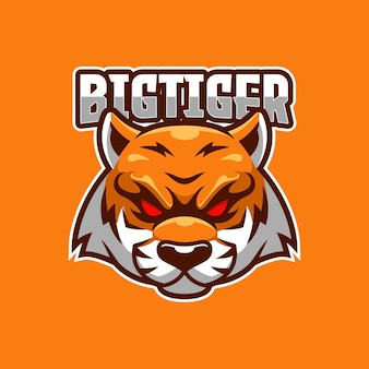 Grote tiger e-sport logo sjabloon