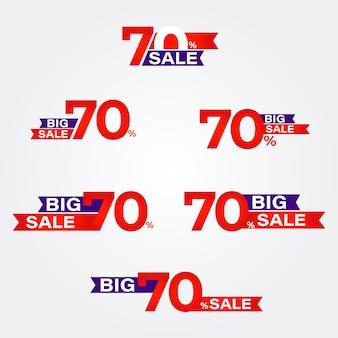 Grote verkoop badges collectie promotie badges