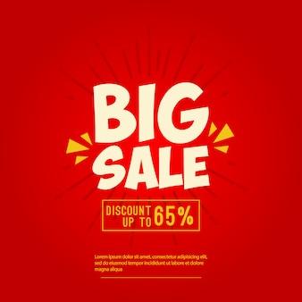 Grote verkoop banner ontwerpsjabloon