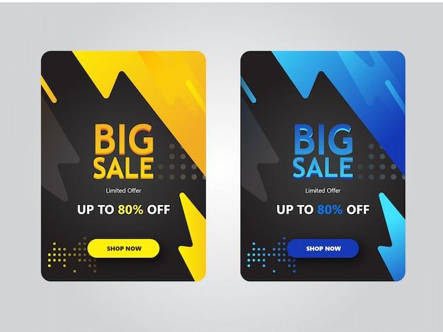Grote verkoop banneradvertenties promotie