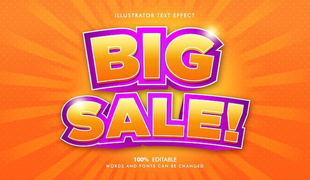 Grote verkoop bewerkbare tekststijl effect