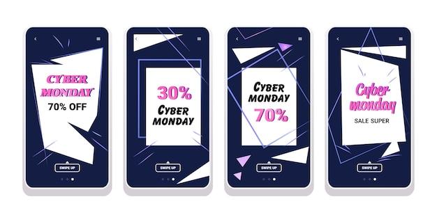 Grote verkoop cyber maandag collectie speciale aanbieding promo marketing kerstinkopen
