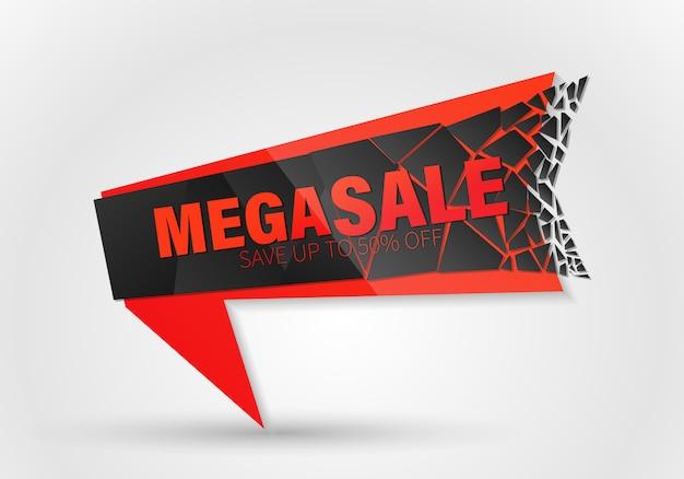 Grote verkoop einde seizoen banner met explosie-effect