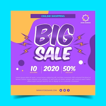 Grote verkoop flyer-sjabloon