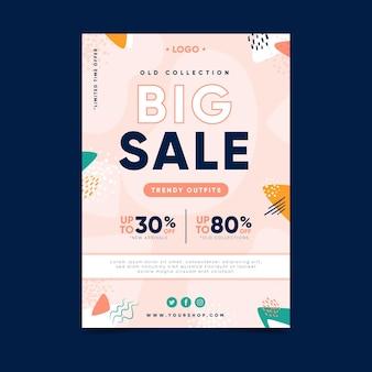 Grote verkoop flyer sjabloonontwerp