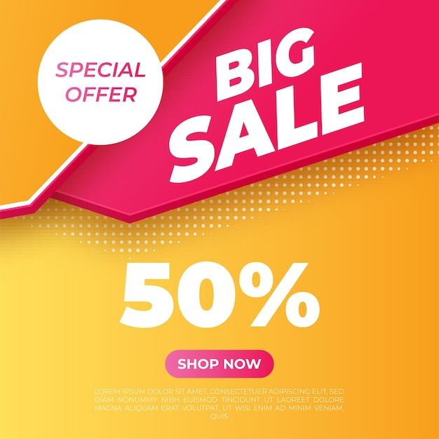 Grote verkoop heldere banner. speciale aanbieding. vector illustratie.