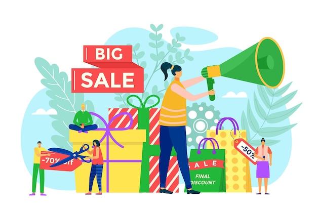 Grote verkoop illustratie