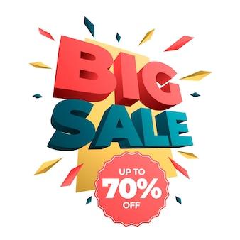 Grote verkoop kleurrijke 3d banner