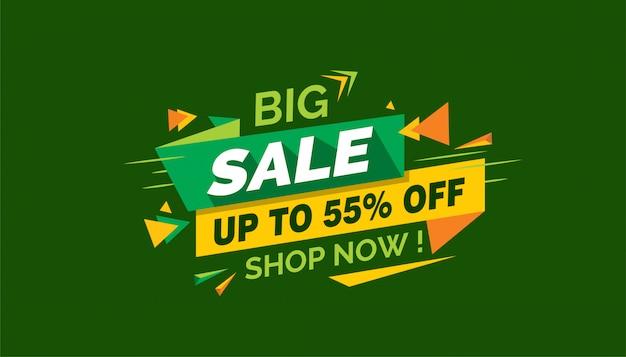 Grote verkoop, kleurrijke verkoopbanner