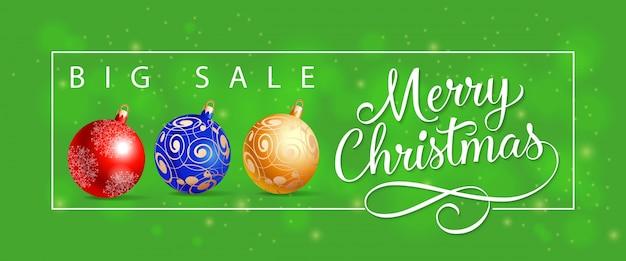 Grote verkoop merry christmas belettering